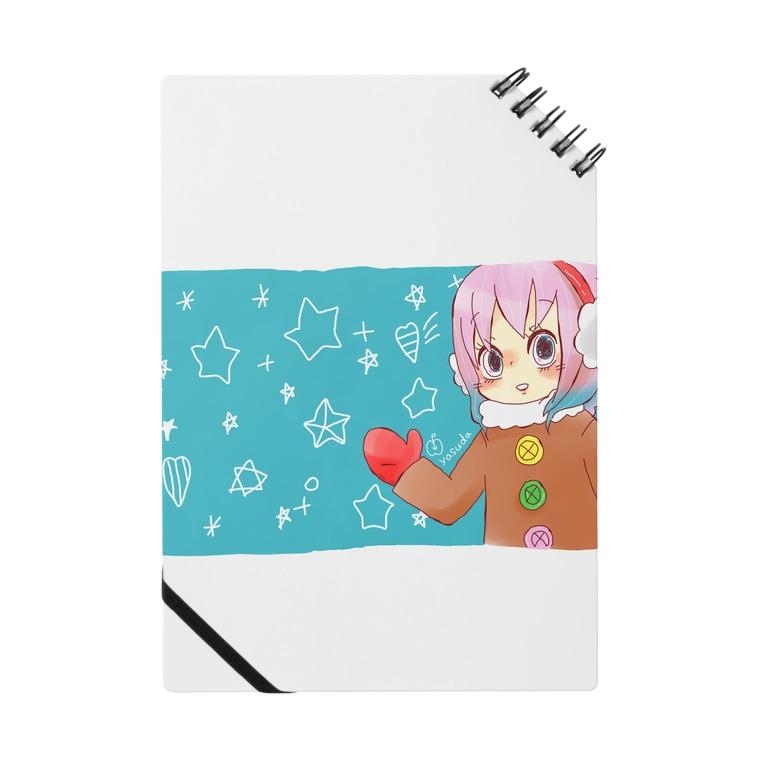SUZURI 冬の女の子のノート
