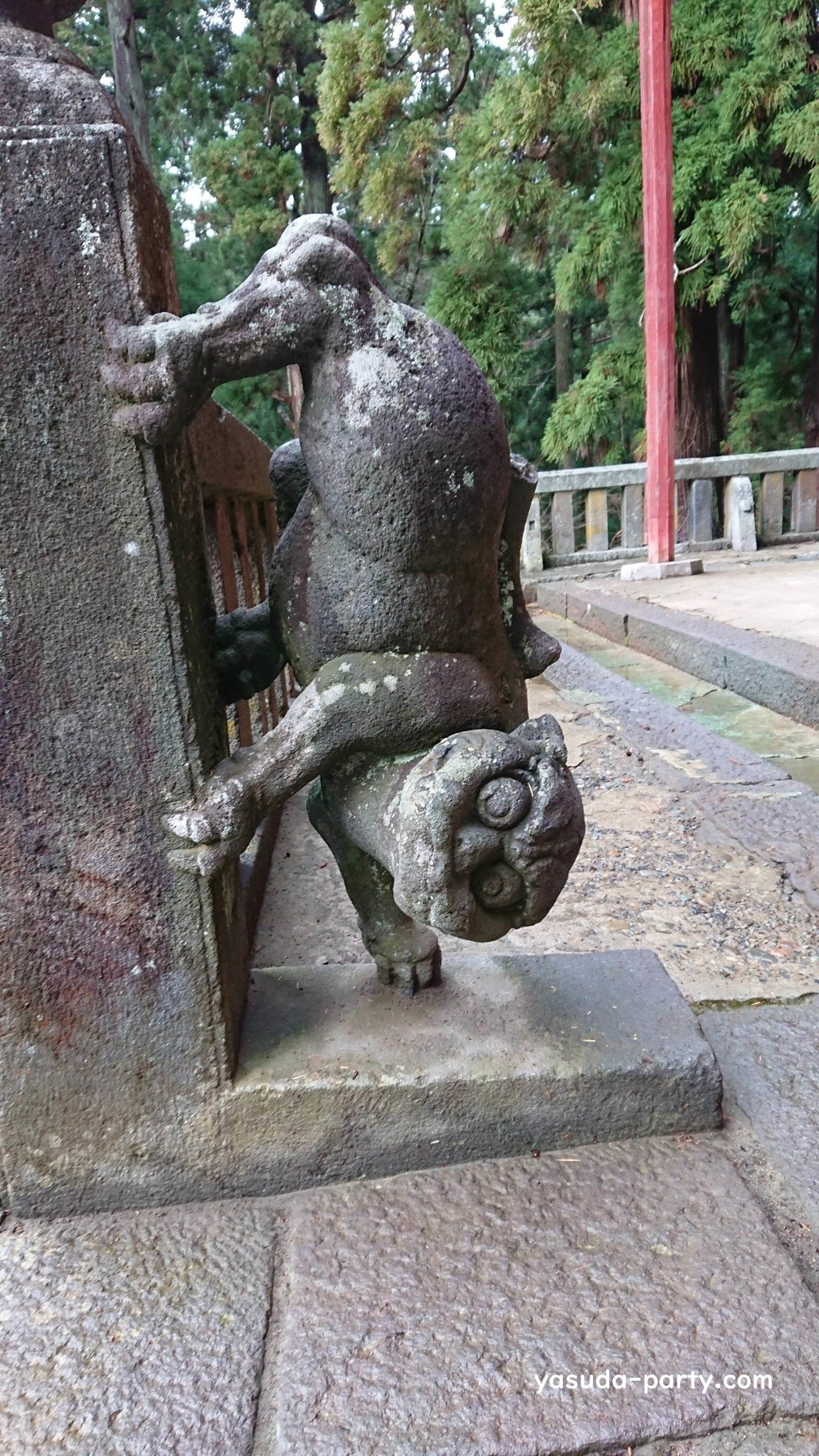 岩木山神社狛犬左