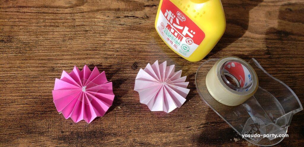 折り紙ロゼット作成工程⑤