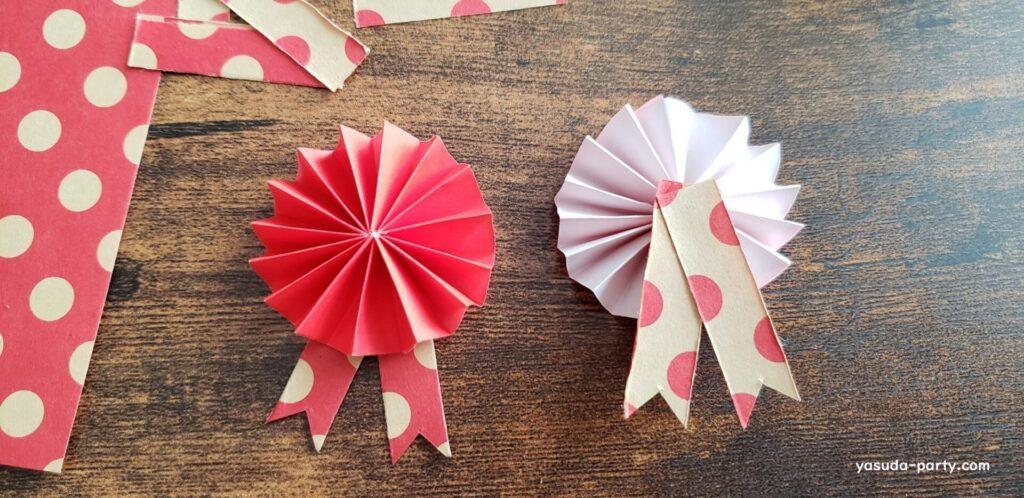 折り紙ロゼット作成工程⑥