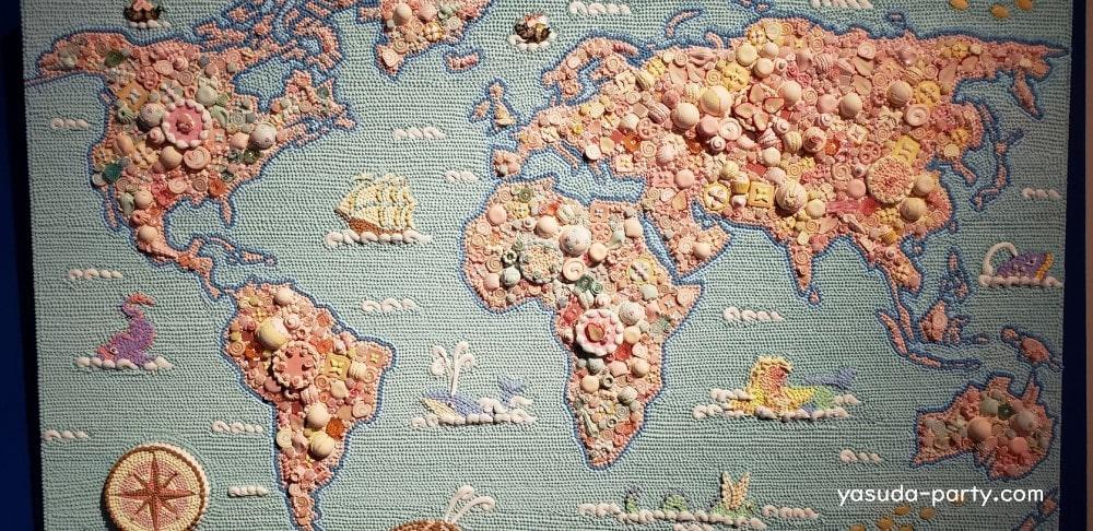 渡辺おさむスイーツデコアート世界地図